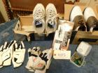 Used Size 10 Wide Nike and Footjoy golf shoes w/ extra cleats and 4 golf gloves (men's medium)