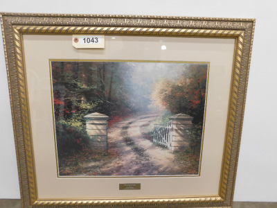 2'2 by 2'6 Autumn Gate by Thomas Kinkade Library Edition
