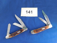 Case XX USA 5 dot 6249 2 blade knife and Case XX SS 5 dot USA 6347 HP SSP 3 blade knife