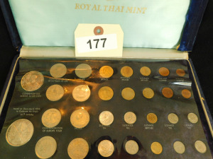 Royal Thai mint coin collection approx 30 coins