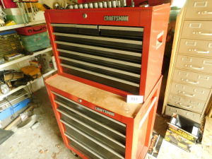 Craftsman tool box full of misc tools-shed