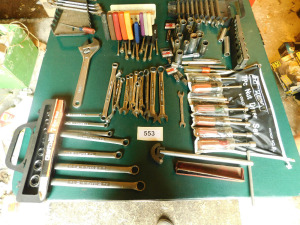 misc hand tools on table only-shed