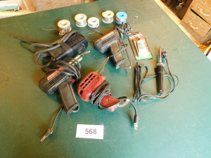 3 solder guns and solder- table only - shed