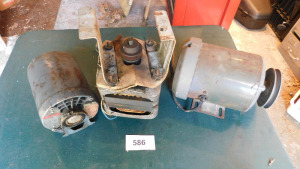3 used motors, all spin- shed