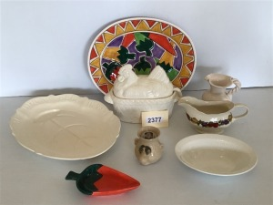 Ceramic Assortment - Tureen With Ladle, Well & Tree Platter, Mexican Motif Platter, And More