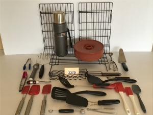 Kitchen Aids - Cooling Racks, Tortilla Warmer, Thermos, Various Kitchen Tools