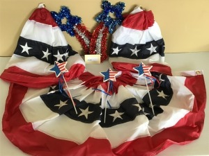 Patriotic Buntings and Other Décor