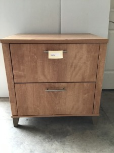 "Two Drawer Faux Wood Filing Cabinet, 29"" X 20"" X 29"""
