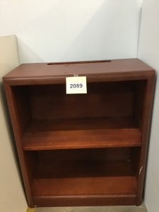 "Small Wooden Bookcase, 12"" X 24"" X 28"""