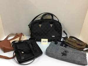 Ladies Purses By Bass, Bernini, Tumi Business Case, And More, Five Pieces