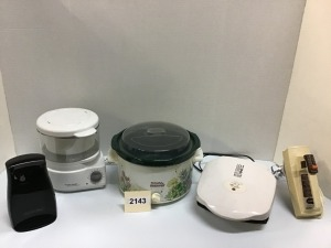 Kitchen Appliances - Can Opener, Crock Pot, George Foreman Grill, Steamer, Heavy Duty Hand Mixer