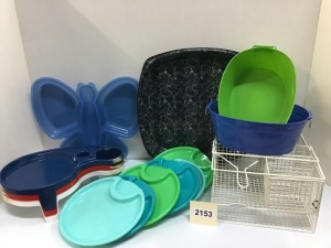 Picnic Utensils - Plastic Baskets, Trays, Plates, Platters, Wire Caddy