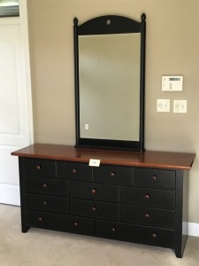"Thomasville Wooden Dresser - Mirror, 49"" X 28"" And Base 18"" X 65"" X 31"""