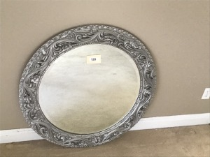 Silver Framed Mirror, 42""