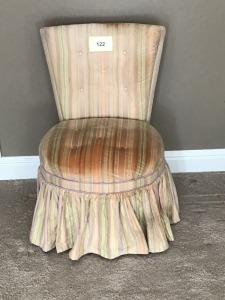 Ladies Upholstered Dresser Chair, Some Stains