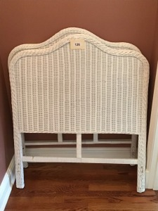 Two Very Nice Twin Wicker  Headboards