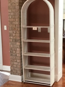 "Very Nice Five Shelf Wicker Etagere, 72"" X 12"" X 27"""