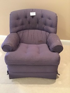 Upholstered Swivel Rocking Chair