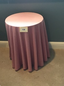 "Small Round Display Table, 19"" X 25"""
