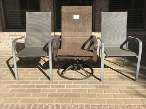 Three Outdoor Chairs - One Rocker