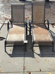 Two Swimming Pool Lounge Chairs