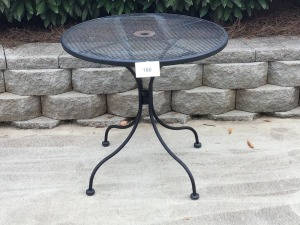 "Round Wrought Iron Table, 30"" X 29"""