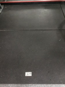Two Rubber Floor Mats, 4' X 6'
