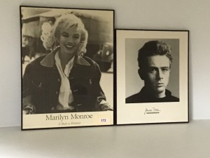 Hollywood Icons Posters - Marilyn Monroe And James Dean