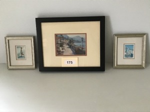 "Framed And Matted Prints By The Sea, City 13"" X 16"", Children 7"" X 8"""