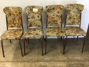 Four Retro Kitchen Table Chairs (Very Small Amount Of Wear And Tear)