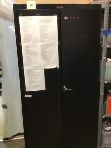 "Metal Locker With Cleaning Supplies, 72"" X 36"" X 18"""