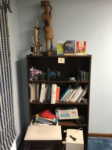 "Wooden Bookcase With Contents, 12"" X 36"" X 60"""