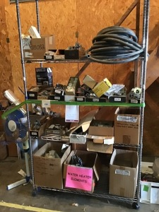 "Water Heater Accessories, HD Wire Shelving, 84"" X 18"" X 47"""